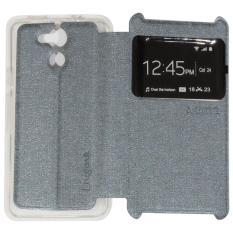 Ume Acer Liquid Z410 / Acer Z410 Ukuran 4.5 Inch Flipshell / Flip Cover Acer Z410 / Leather Case / Sarung Case / Sarung Handphone / Sarung Hp Kulit / View - Silver