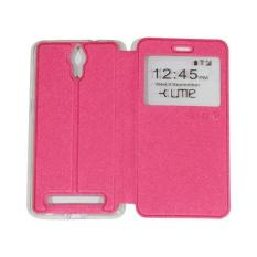 Ume CoolPad Roar Plus / CoolPad Roar + E570 View / Flipshell / Flip Cover / Leather Case / Sarung Case / Sarung HP / Sarung Coolpad Roar Plus - Pink