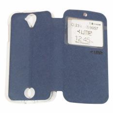 Ume Acer Liquid Z320 / Acer Liquid Z330 / Acer Z320 / Acer Z330 Ukuran 4.5 Inch Flipshell / Flip Cover / Leather Case / Sarung Case Acer Z320/Z330 / Sarung HP / Sarung Handphone / View - Biru Tua