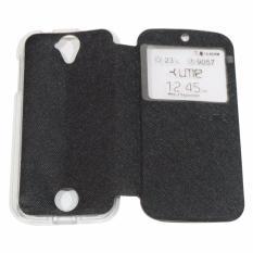 Ume Acer Liquid Z320 / Acer Liquid Z330 / Acer Z320 / Acer Z330 Ukuran 4.5 Inch Flipshell / Flip Cover / Leather Case / Sarung Case Acer Z320/Z330 / Sarung HP / Sarung Handphone / View - Hitam
