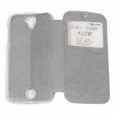 Ume Acer Liquid Z320 / Acer Liquid Z330 / Acer Z320 / Acer Z330 Ukuran 4.5 Inch Flipshell / Flip Cover / Leather Case / Sarung Case Acer Z320/Z330 / Sarung HP / Sarung Handphone / View - Silver