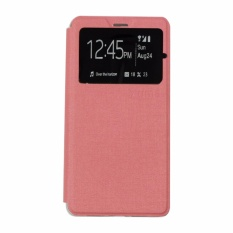 Ume Leather Cover Acer Liquid Z200 / Acer Z200 Leather Case Sarung / Flipshell / Flip Cover Kulit / Sarung HP / Flip Cover Acer Liquid Z200 / Acer Z200 / Sarung Handphone Kulit Sintetis - Pink Muda / Pink Peach