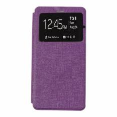 Ume Leather Cover Acer Liquid Z200 / Acer Z200 Leather Case Sarung / Flipshell / Flip Cover Kulit / Sarung HP / Flip Cover Acer Liquid Z200 / Acer Z200 / Sarung Handphone Kulit Sintetis - Ungu / Purple