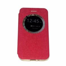 Ume Leather Cover Asus Zenfone 2 Ukuran 5.5 ZE500ML Leather Case Sarung / Flipshell / Flip Cover Kulit / Sarung HP / Flip Cover Asus Zenfone 2 Ukuran 5.5 ZE550ML / Sarung Handphone Kulit Sintetis - Pink