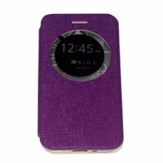 Ume Leather Cover Asus Zenfone C ZC451CG Leather Case Sarung / Flipshell / Flip Cover Kulit / Sarung HP / Flip Cover Asus Zenfone C ZC451CG  / Sarung Handphone Kulit Sintetis - Hitam / Black