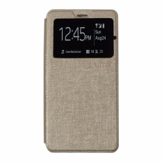 Ume Leather Cover Lenovo A2010 Leather Case Sarung / Flipshell / Flip Cover Kulit / Sarung HP / Flip Cover Lenovo A2010 / Sarung Handphone Kulit Sintetis - Gold / Emas