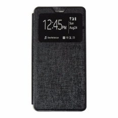 Ume Leather Cover Lenovo A2010 Leather Case Sarung / Flipshell / Flip Cover Kulit / Sarung HP / Flip Cover Lenovo A2010 / Sarung Handphone Kulit Sintetis - Hitam / Black