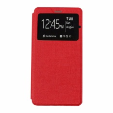 Ume Leather Cover Lenovo A2010 Leather Case Sarung / Flipshell / Flip Cover Kulit / Sarung HP / Flip Cover Lenovo A2010 / Sarung Handphone Kulit Sintetis - Merah / Red
