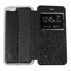 Ume Leather Cover Lenovo Vibe K5 Plus / Lenovo K5+ Leather Case Sarung / Flipshell / Flip Cover Kulit / Sarung HP / Flip Cover Lenovo Vibe K5 Plus / Lenovo K5+ / Sarung Handphone Kulit Sintetis - Hitam / Black