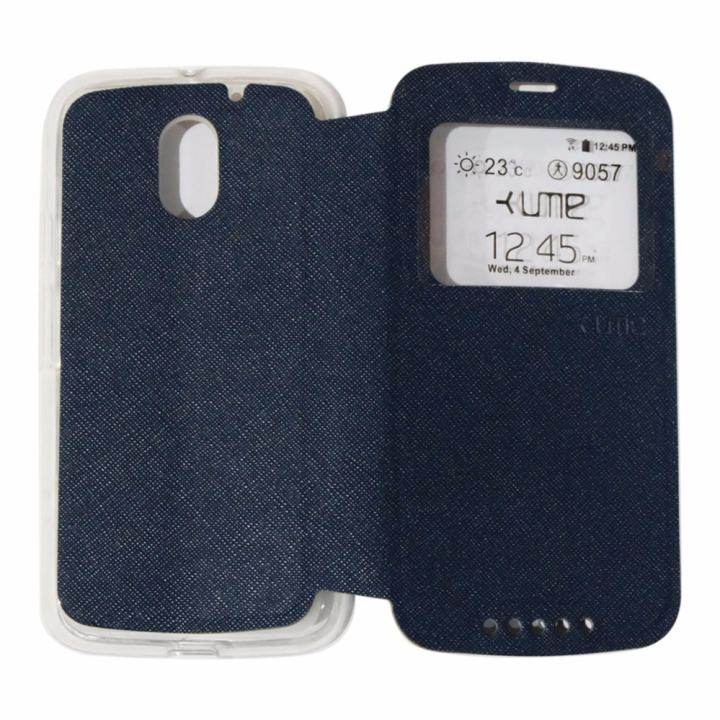 Ume Leather Cover Motorola Moto E3 Power Leather Case Sarung / Flipshell / Flip Cover Kulit