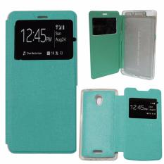 Ume Leather Cover Oppo Joy R1001 Leather Case Sarung / Flipshell / Flip Cover Kulit Oppo R1001 / Sarung HP / Flip Cover Oppo Joy / Sarung Handphone Kulit Sintetis - Hijau Tosca