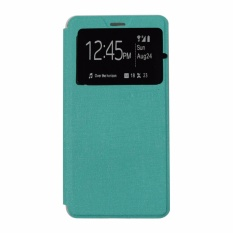 Ume Leather Cover Oppo Mirror 5 A51T Power Leather Case Sarung / Flipshell / Flip Cover Kulit / Sarung HP / Flip Cover Oppo Mirror 5 A51T / Sarung Handphone Kulit Sintetis - Hijau Tosca