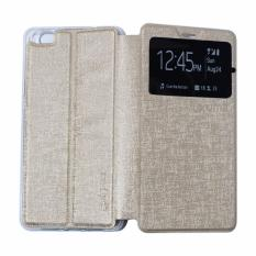 Ume Leather Cover Oppo Neo 5 A31 / Oppo A31T Leather Case Sarung / Flipshell / Flip Cover Kulit / Sarung HP / Flip Cover Oppo Neo 5 A31 / Oppo A31T / Sarung Handphone Kulit Sintetis - Gold / Emas