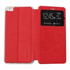 Ume Leather Cover Oppo Neo 5 A31 /  Oppo A31T Leather Case Sarung / Flipshell / Flip Cover Kulit / Sarung HP / Flip Cover Oppo Neo 5 A31 /  Oppo A31T / Sarung Handphone Kulit Sintetis - Merah / Red