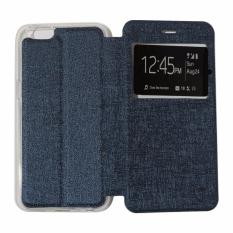 Ume Leather Cover Oppo Neo 7 A33 Leather Case Sarung / Flipshell / Flip Cover Kulit / Sarung HP / Flip Cover Oppo Neo 7 A33 / Sarung Handphone Kulit Sintetis - Biru Tua / Navy