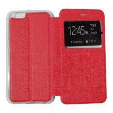 Ume Leather Cover Oppo Neo 7 A33 Leather Case Sarung / Flipshell / Flip Cover Kulit / Sarung HP / Flip Cover Oppo Neo 7 A33 / Sarung Handphone Kulit Sintetis - Merah / Red