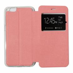 Ume Leather Cover Oppo Neo 7 A33 Leather Case Sarung / Flipshell / Flip Cover Kulit / Sarung HP / Flip Cover Oppo Neo 7 A33 / Sarung Handphone Kulit Sintetis  - Pink Muda / Pink Peach