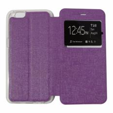 Ume Leather Cover Oppo Neo 7 A33 Leather Case Sarung / Flipshell / Flip Cover Kulit / Sarung HP / Flip Cover Oppo Neo 7 A33 / Sarung Handphone Kulit Sintetis - Ungu / Purple