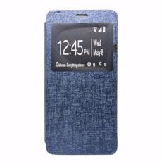 Ume Leather Cover Samsung Galaxy A8 A800 Leather Case Sarung / Flipshell / Flip Cover Kulit / Sarung HP / Flip Cover Samsung Galaxy A8 A800 / Sarung Handphone Kulit Sintetis - Biru Tua / Navy