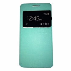 Ume Leather Cover Samsung Galaxy E7 E700 Leather Case Sarung / Flipshell / Flip Cover Kulit / Sarung HP / Flip Cover Samsung Galaxy E7 E700 / Sarung Handphone Kulit Sintetis - Hijau Tosca