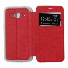 Ume Leather Cover Samsung Galaxy Grand 2 G7106 Leather Case Sarung / Flipshell / Flip Cover Kulit / Sarung HP / Flip Cover Samsung Galaxy Grand 2 G7106 / Sarung Handphone Kulit Sintetis - Merah / Red