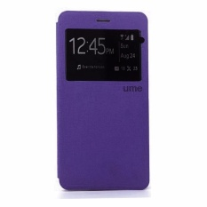 Ume Leather Cover Samsung Galaxy Grand 3 G7200 Leather Case Sarung / Flipshell / Flip Cover Kulit / Sarung HP / Flip Cover Samsung Galaxy Grand 3 G7200 / Sarung Handphone Kulit Sintetis - Ungu / Purple