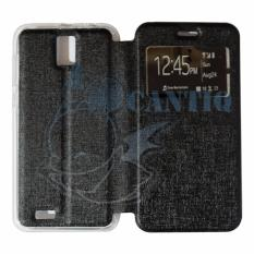 Ume Leather Flip Cover Untuk Advan Vandroid i5E Flip Shell / Sarung Case – Hitam