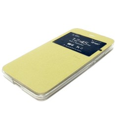 Ume Lenovo S660 Flip Shell / FlipCover / Leather Case / Sarung hp - Gold