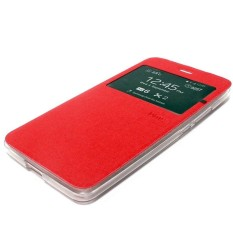 Ume Lenovo Vibe P1M Flip Shell/ FlipCover / Leather Case / Sarung hp - Merah