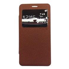 Ume LG G4 Stylus Flipcase Flipcover Flipshell Leather Case Casing Cover - Cokelat