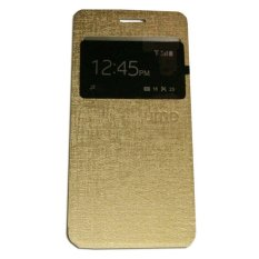 Ume OPPO F1 Plus / Oppo F1+ / Oppo R9 View / Flip Cover Oppo R9 / Flipshell / Leather Case / Sarung Handphone / Sarung HP / Sarung Oppo F1 Plus - Gold