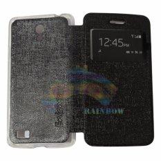 Ume Oppo Joy 3 / Oppo A11W / Oppo A11 View / Flip Cover / Flipshell / Leather Case Oppo A11 / Sarung Case / Sarung Handphone Kulit Sintetis / Sarung HP Oppo Joy 3 - Hitam
