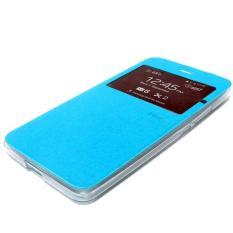 Ume Oppo R1001 joy / R1011 Flip Cover / Flip Shell / Leather Case / Sarung HP / View - Biru Muda
