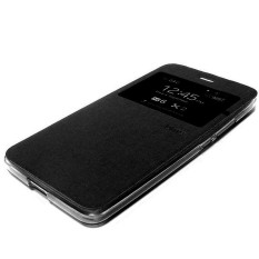 Ume flipcase Advan Vandroid i5E Flip Shell silicone sarung dompet Leather Faux Case - hitam