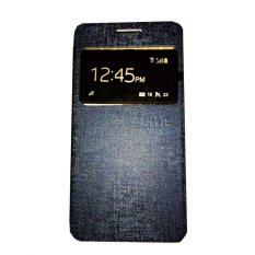 Ume Smartfren Andromax C2 View / Flip Cover / Flipshell / Leather Case / Sarung HP / Sarung Andromax C2 - Navy Blue