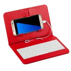 Umum Case Sandal Sarung Keyboard Kabel For Ponsel Android 10.67 Cm-17.27 Cm (merah)