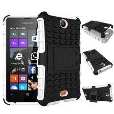Paman Sam Baru Dual Layer Hybrid Armor Case Detachable 2 In 1 Shockproof Toughrugged Case Cover untuk Microsoft Nokia Lumia 430 Case (Putih) -Intl