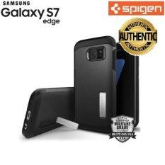 Paman Sam Pelindung Lapis Baja Kuat untuk Galaxy S7 Edge (Hitam) Harga 100% Asli-Intl