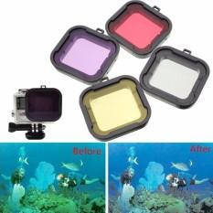 Underwater Diving Filter Lens Cover UV Filter untuk GOPRO HERO 4/3 + Case Perumahan-Internasional