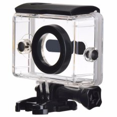 Underwater Waterproof Case Anti Blur Lens IPX68 40m for Xiaomi Yi Sports Action Camera Casing Housing Pelindung Kamera Aksi Anti Air Debu Goresan Lensa Tidak Berembun Rapat Material PC Transparant Cases for Diving Snorkling Selam Menyelam Renang Swim