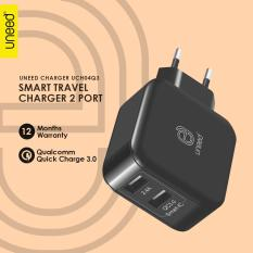 Toko Uneed Dual Usb Wall Charger Qualcomm Quick Charge 3 Uch04Q3 Original Hitam Online Jawa Barat
