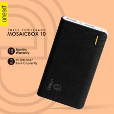 Review Toko Uneed Mozaic Powerbank 10000Mah Polymer Battery Real Capacity Dual Output 1 2 Ampere Original Hitam