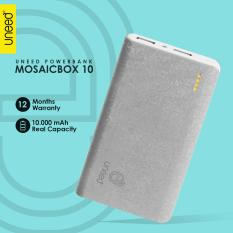 UNEED Mozaic Powerbank 10000mAh Polymer Battery Real Capacity - Dual Output 1 & 2 Ampere - Original - Putih