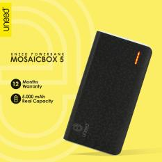 UNEED Mozaic Powerbank 5000mAh Polymer Battery Real Capacity - Original - Black