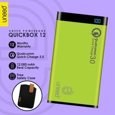 Spesifikasi Uneed Powerbank 12000Mah Qualcomm Quick Charge 3 Quickbox Dual Usb Port Real Capacity Hijau Lengkap Dengan Harga