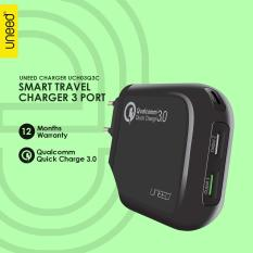 Jual Beli Uneed Smart Travel Charger Qualcomm Quick Charge 3 3 Port With Type C Port