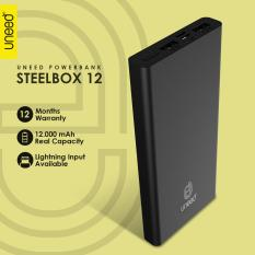 Harga Uneed Steelbox 12 Powerbank 12000Mah Polymer Battery Dual Port Real Capacity Original Seken