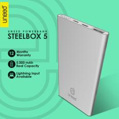 Harga Uneed Steelbox 5 Powerbank 5000Mah Polymer Battery Real Capacity Original Asli Uneed