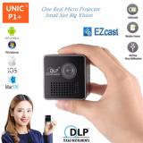 Miliki Segera Unic P1 Home Wifi Micro Led Dlp Projector With Miracast 30 Lumens Black