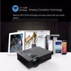Unic Uc46 Led Proyektor 1200Lm 1080 P Hd Wifi Vga Hdmi Sd Av Usb Penopang Miracast Dlna Airplay Home Theater Cinema Intl Promo Beli 1 Gratis 1